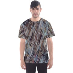 Abstract Chinese Background Created From Building Kaleidoscope Men s Sport Mesh Tee