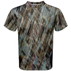 Abstract Chinese Background Created From Building Kaleidoscope Men s Cotton Tee