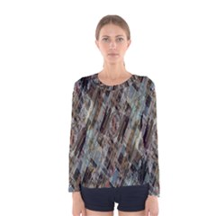 Abstract Chinese Background Created From Building Kaleidoscope Women s Long Sleeve Tee