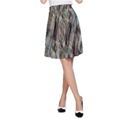 Abstract Chinese Background Created From Building Kaleidoscope A-Line Skirt