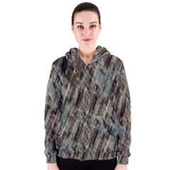 Abstract Chinese Background Created From Building Kaleidoscope Women s Zipper Hoodie