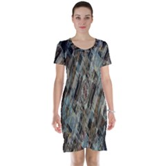 Abstract Chinese Background Created From Building Kaleidoscope Short Sleeve Nightdress