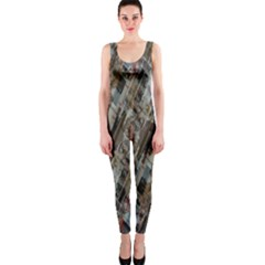 Abstract Chinese Background Created From Building Kaleidoscope OnePiece Catsuit