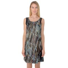 Abstract Chinese Background Created From Building Kaleidoscope Sleeveless Satin Nightdress