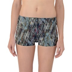Abstract Chinese Background Created From Building Kaleidoscope Boyleg Bikini Bottoms