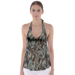 Abstract Chinese Background Created From Building Kaleidoscope Babydoll Tankini Top