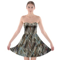 Abstract Chinese Background Created From Building Kaleidoscope Strapless Bra Top Dress