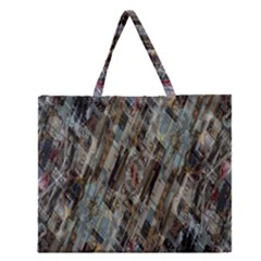 Abstract Chinese Background Created From Building Kaleidoscope Zipper Large Tote Bag