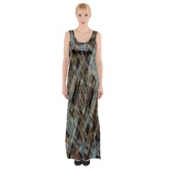 Abstract Chinese Background Created From Building Kaleidoscope Maxi Thigh Split Dress