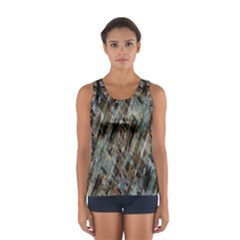 Abstract Chinese Background Created From Building Kaleidoscope Women s Sport Tank Top