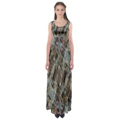 Abstract Chinese Background Created From Building Kaleidoscope Empire Waist Maxi Dress