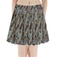Abstract Chinese Background Created From Building Kaleidoscope Pleated Mini Skirt
