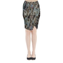 Abstract Chinese Background Created From Building Kaleidoscope Midi Wrap Pencil Skirt