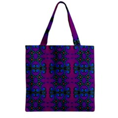 Purple Seamless Pattern Digital Computer Graphic Fractal Wallpaper Grocery Tote Bag