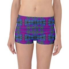 Purple Seamless Pattern Digital Computer Graphic Fractal Wallpaper Boyleg Bikini Bottoms