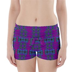 Purple Seamless Pattern Digital Computer Graphic Fractal Wallpaper Boyleg Bikini Wrap Bottoms