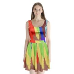 Hintergrund Tapete  Texture Split Back Mini Dress