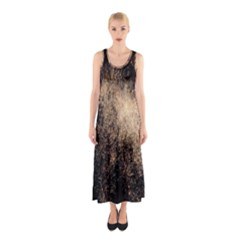 Fireworks Party July 4th Firework Sleeveless Maxi Dress