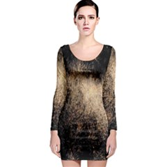 Fireworks Party July 4th Firework Long Sleeve Bodycon Dress
