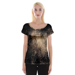 Fireworks Party July 4th Firework Women s Cap Sleeve Top