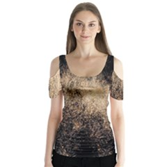 Fireworks Party July 4th Firework Butterfly Sleeve Cutout Tee