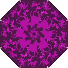 Pink Horses Horse Animals Pattern Colorful Colors Golf Umbrellas