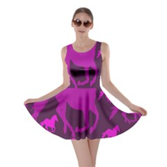 Pink Horses Horse Animals Pattern Colorful Colors Skater Dress