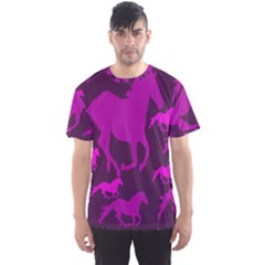 Pink Horses Horse Animals Pattern Colorful Colors Men s Sport Mesh Tee