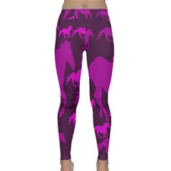 Pink Horses Horse Animals Pattern Colorful Colors Classic Yoga Leggings