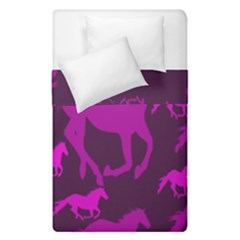 Pink Horses Horse Animals Pattern Colorful Colors Duvet Cover Double Side (single Size)