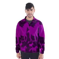 Pink Horses Horse Animals Pattern Colorful Colors Wind Breaker (men)