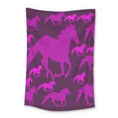 Pink Horses Horse Animals Pattern Colorful Colors Small Tapestry