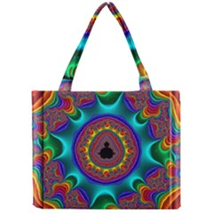 3d Glass Frame With Kaleidoscopic Color Fractal Imag Mini Tote Bag