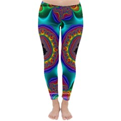 3d Glass Frame With Kaleidoscopic Color Fractal Imag Classic Winter Leggings