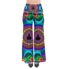 3d Glass Frame With Kaleidoscopic Color Fractal Imag Pants