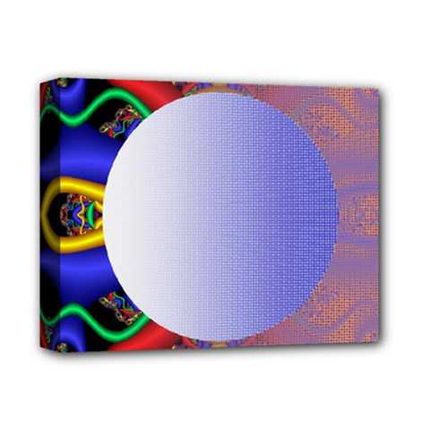 Texture Circle Fractal Frame Deluxe Canvas 14  X 11