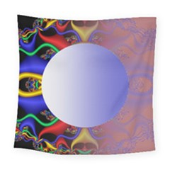 Texture Circle Fractal Frame Square Tapestry (large)