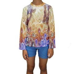 Space Abstraction Background Digital Computer Graphic Kids  Long Sleeve Swimwear