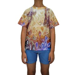Space Abstraction Background Digital Computer Graphic Kids  Short Sleeve Swimwear