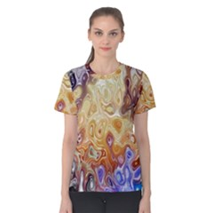 Space Abstraction Background Digital Computer Graphic Women s Cotton Tee