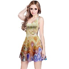 Space Abstraction Background Digital Computer Graphic Reversible Sleeveless Dress