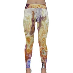 Space Abstraction Background Digital Computer Graphic Classic Yoga Leggings
