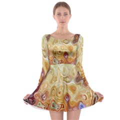 Space Abstraction Background Digital Computer Graphic Long Sleeve Skater Dress