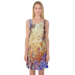 Space Abstraction Background Digital Computer Graphic Sleeveless Satin Nightdress