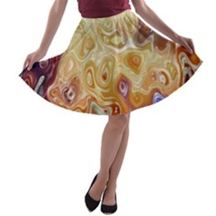Space Abstraction Background Digital Computer Graphic A Line Skater Skirt