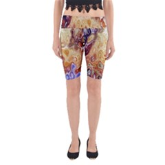 Space Abstraction Background Digital Computer Graphic Yoga Cropped Leggings