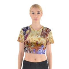Space Abstraction Background Digital Computer Graphic Cotton Crop Top