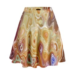 Space Abstraction Background Digital Computer Graphic High Waist Skirt