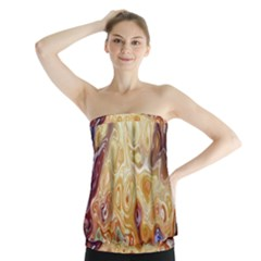 Space Abstraction Background Digital Computer Graphic Strapless Top