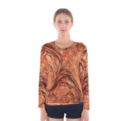 3d Glass Frame With Fractal Background Women s Long Sleeve Tee